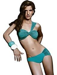 Bikini Girl Cyan Lycra Women's Sexy Uniform