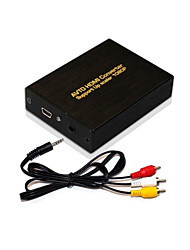 Full HD 1080P Audio AV RCA  R/L CVBS to HDMI Output Video Converter Box Adapter ,Brand New