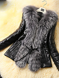 Sergent Women's Elegant Faux Fur Coat