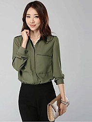 Women's Lapel Fashion Long Sleeve Shirts