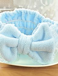 Bow Tenfolds Cosmetic Lace Decoration Mask Beauty Towel Soft Microfiber Headband