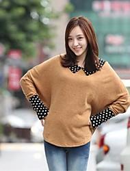 XinYuanGe® Women's Peter Pan Collar Elegant Loose Fashion Long Bat Sleeve Tops Shirts