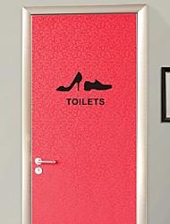 Cartoon Men and women shoes logo Bathroom Sticker