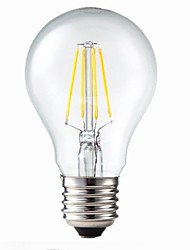5W E26/E27 LED Filament Bulbs G60 4 COB 400 lm Warm White Dimmable / Decorative AC 220-240 V