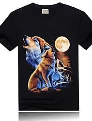 Homme T-shirt Printemps / Eté / Automne Noir Extérieur M / L / XL / XXL