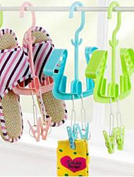 candy Farbe Multifunktion Design Kunststoff-Schuhe Mobiltyp Rack&Aufhänger 1pcs (zufällige Farben)