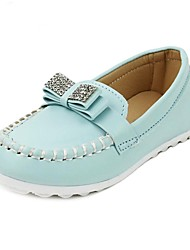 Girl's Flats Spring / Summer / Fall Comfort / Closed Toe Leather Flat Heel Bowknot Blue / Yellow / White / Orange