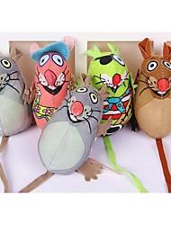 Pet Natural Non Toxic Molar Teeth Cute Mouse Toys(Random Color)