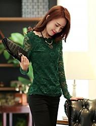 chaoliu nuevo cuello 2014 estilos coreanos ronda slim fit manga larga camisa de la base del cordón