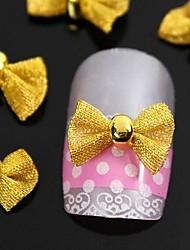 10pcs arc d'or cravate pour les accessoires de pointes d'ongle décoration d'art