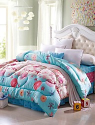 Shuian® Comforter Winter Quilt Keep Warm Thickening  Quilts with Printing Pattern