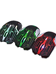 R.horse FC-1800 Colorful glare metal base Wired Gaming Mouse 3200/2400/1600/1000dpi