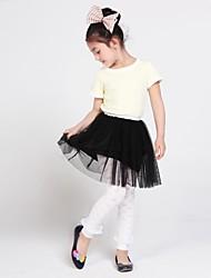 LangSha® Girl's Butterfly Jacquard Lace Leggings