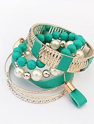Legering Dames Ronde Armbanden Armbanden Imitatie Parel