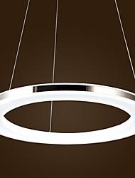 Colgante de acrílico, 1 luz, Modern Chic Acero inoxidable Recubrimiento