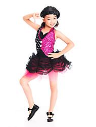 Jazz Girls' Spandex With Sequins Jazz Dance Costume/Modern Dance Dress