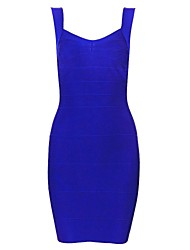 Women's Sexy Dress,Solid Mini Sleeveless Blue / Red / White / Black / Yellow Spring / Summer / Fall / Winter