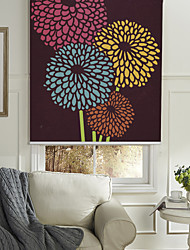 Abstract Classic Colorful Blossoms Roller Shade