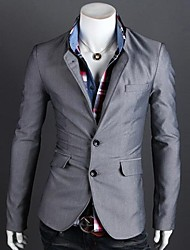 Lesen Men's Fashion Casual Collar Spell Color Two Button Slim High Quality Suit O