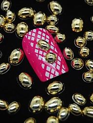 100er-Mix Formen goldenen Metall-Zubehör 3D Nail Art Dekoration