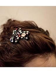 schönen Kristall Bär Haarnadeln Haarspangen zufällige Farbe