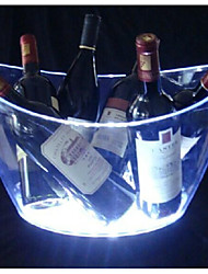 Plastic LED Ice Bucket for Bar