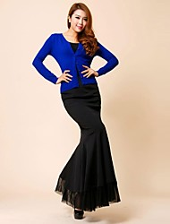 Women's Sexy Fashion Elegant Slim Mermaid Fishtail Black Long Skirt