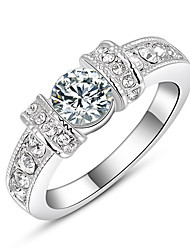 RIM Simple Austria Crystal Alloy Bilateral Diamonade Ring