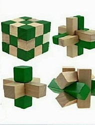 4pcs desbloqueo primaria juguetes educativos de madera