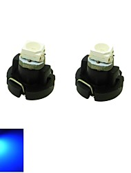 t3 LED bleue cluster de tableau de bord de voiture lumière 0.2w 1x3528 cms jauges lampe ampoule de bord (DC 12V, 2-pack)