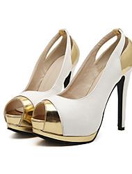 Mooka Frauenfarbanpassung ausgeschnitten alle passenden Peep Toe Stiletto-Absatz elegante Sandalen
