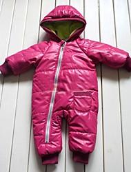 Girls Children's Pink Winter Baby Toddler Grow Bodysuit Romper Onesie Outfit Snowsuits