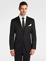 (Premium) Black Polyeter Tailored Fit Two-Piece Tuxedo