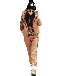 Women's New Number  69 Hood  Sweater Three Piece Suit (coat&pant&shirt)