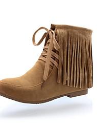 sapatos femininos conforto dos pés calcanhar pedaços rodada reunindo ankle boots mais cores disponíveis