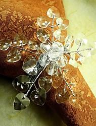 cristal perles de coeur de fleur en multi rond de serviette de couleur, beades acrylique, 4,5 cm, lot de 12,