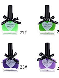 1pcs bonbons de couleur de vernis à ongles dentelle papillon bouteille no.21-24 (de couleurs assorties)