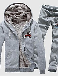 Men's Hooded Cardigan Couples Warm Sport Suit