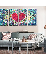 Personalized Canvas Print Stretched Canvas Art Glass Heart 30x60cm  40x80cm  50x100cm  Gallery Wrapped Art  Set of 4