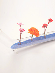 Table Centerpieces Test Tube Shaped Glass Vase With Colorized Sand and Artificial Flowers  Table Deocrations