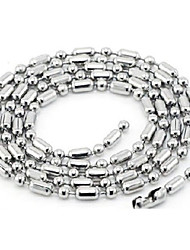 Jewelry Choker Necklaces / Chain Necklaces Wedding / Party / Daily / Casual Titanium Steel Women Silver Wedding Gifts