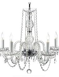 minimaliste cinq lustre en cristal de luxe