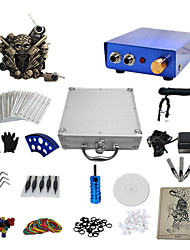 1 Gun Complete No Ink Tattoo Kit with Blue Emboss Tatoo Machine