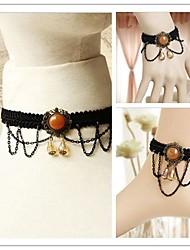 Little Devil with Orange Artificial Stone Gothic Lolita Accessories Set(Bracelet/Necklace/Bangle)