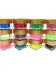 12pcs décoration gel de couleur pure couleur uv gel UV de constructeur de couleur sur papier glacé mélangé ensemble polonais ongle d'art (couleur