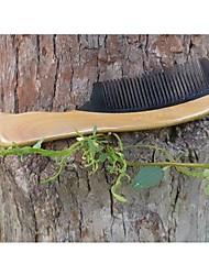 20x5cm alta qualidade sândalo verde misturado com chifre de boi pente de madeira