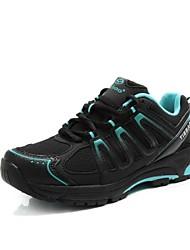 Tiebao Sapatos para Ciclismo Mulheres Anti-Escorregar Ventilação Massagem Respirável Ao ar Livre Bicicleta De MontanhaPele PVC Malha