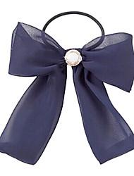 Fashion Bowknot With Pearl Hair Ties Random Color