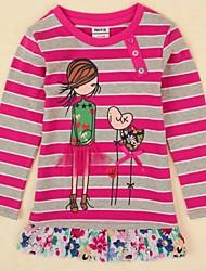 Girl's Cotton/Spandex Tee , Winter/Spring/Fall Long Sleeve