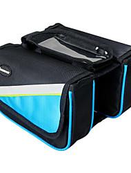 INBIKE azul bolsa de tubo superior 1680D impermeable bolsa grande marco ciclismo